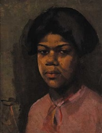 head of a black girl by eileen reid