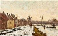 paysage hivernal by frans van damme