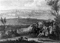 louis xvi à l'assaut d'une ville (ypres?) by sauveur le conte