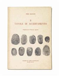 8 tavole d'accertamento (in 8 parts) by piero manzoni