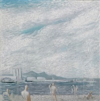 bathers, geelong by ernest walter smith