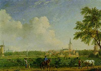 view of the hague form the north north-west by jan ten compe