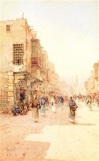 rue animée au caire by spyridon scarvelli