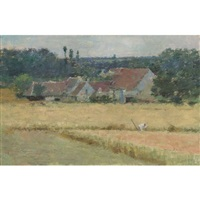 french farmhouse by theodore robinson