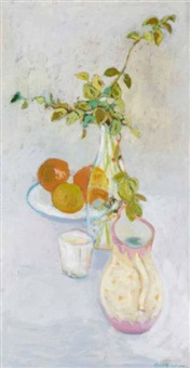 still life with oranges by charlotte ardizzone