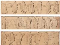 apollon entouré par les neuf muses by pierre jean david d' angers