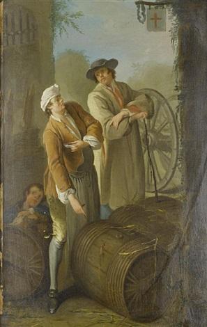 a wine seller a grape seller pair by etienne jeaurat