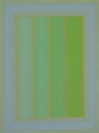 soft to hard: blue border by richard anuszkiewicz