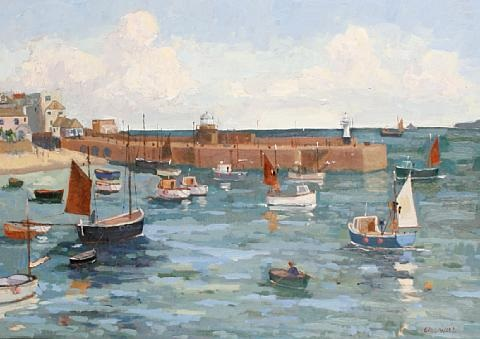 st ives harbor sketch 2 works by eric ward