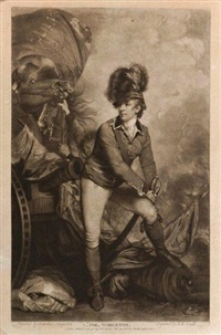 lt. colonel tarleton (after sir joshua reynolds) by john raphael smith