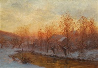 winter evening by paul wilhelm tübbecke