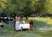 bruxelles, goûter dans un parc by emile hoeterickx