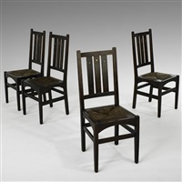 inlaid dining chairs (set of 4) by harvey ellis