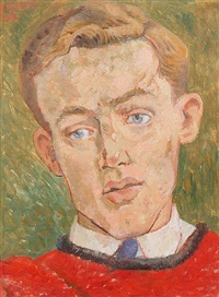 portrait of michael rothwell, the actor by peter samuelson