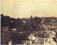 sèvres et ses environs. manufacture, vue de la ville de sèvres prises...de la manufacture by henri-victor regnault