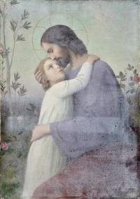 jésus et saint jean by etienne azambre