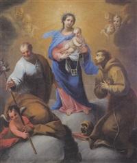 madonna con bambino e i santi giuseppe e francesco by francesco conti