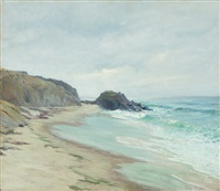 black rock, laguna by guy rose