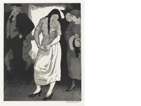 a quarrel by dame laura knight