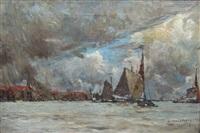 port de la mer du nord by albert baertsoen