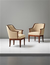 armchairs (pair) by carl malmsten