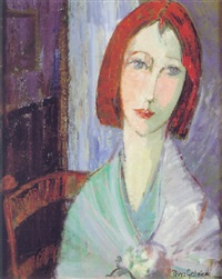 cabeza de mujer con pelo rojo by cristina perez gabrielli