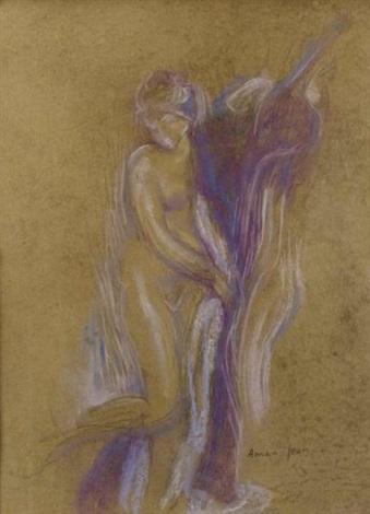 portrait femme by edmond françois aman-jean