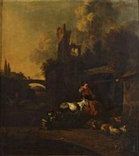 la halte de la bergère chez le maréchalferrant by johannes van der bent