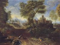 italianate landscape by thomas blanchet