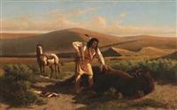 the last buffalo by william de la montagne cary
