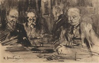 four gentlemen in pulchri, the hague by floris arntzenius