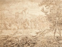 paysage arcadien by johannes (jan) glauber
