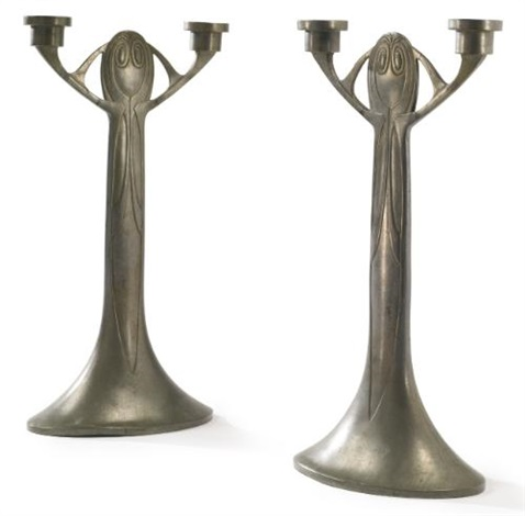 candelabrums pair by joseph maria olbrich