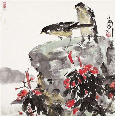 花鸟 by qi haifeng