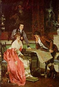 interior genre scenes by gerard lafitte