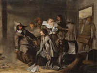 the debt collectors, 17th c. by jacob duck
