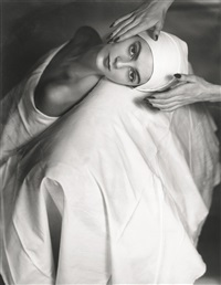 carmen face massage, new york by horst p. horst
