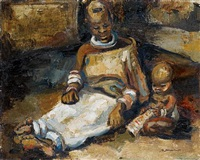 ndebele mother and child by stella shawzin