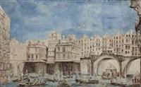 joute des mariniers entre le pont notre dame et le pont au change by jean baptiste nicolas raguenet