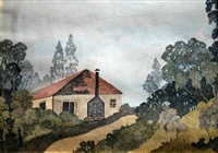 cottage amongst the trees by rene collot d' herbois