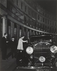 pre-war london, going out for the evening (park crescent), by bill brandt