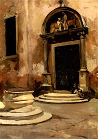 entrance of little church by ralph wormeley curtis