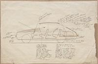 disegno per automobile linea