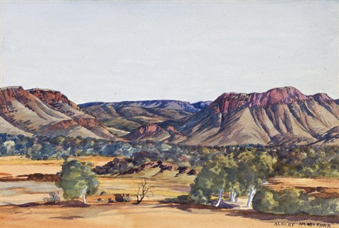 macdonnell ranges by albert namatjira