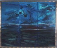 abendrot (triptych) by ernst posch