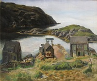 maine coastal scene by edmund f. ward