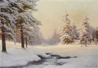 winter landscape by carl kenzler