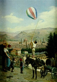 the young balloonist by oreste costa