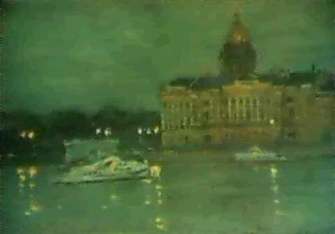 le soir sur la neva by nikolai abramov
