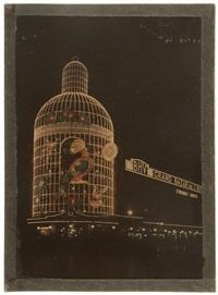 illuminations du bazar de l'hôtel de ville. paris (2 works) by léon gimpel